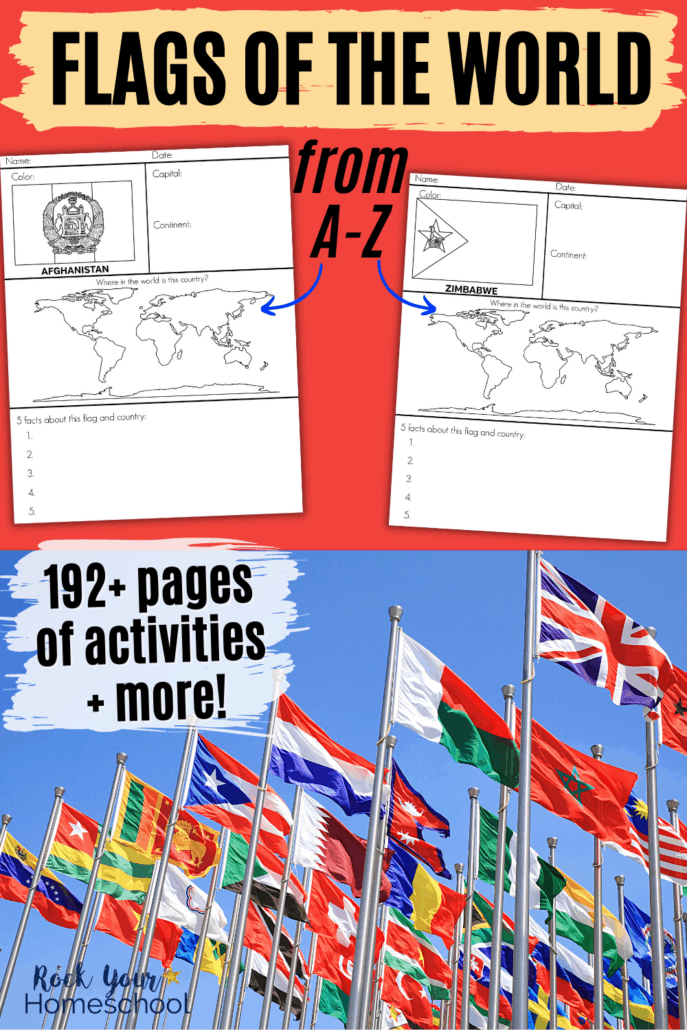Fantastic Flags of the World Printable Worksheets for Geography Fun & More