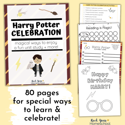 Enjoy magical learning adventures & have some special fun with this Harry Potter Celebration and unit study.
