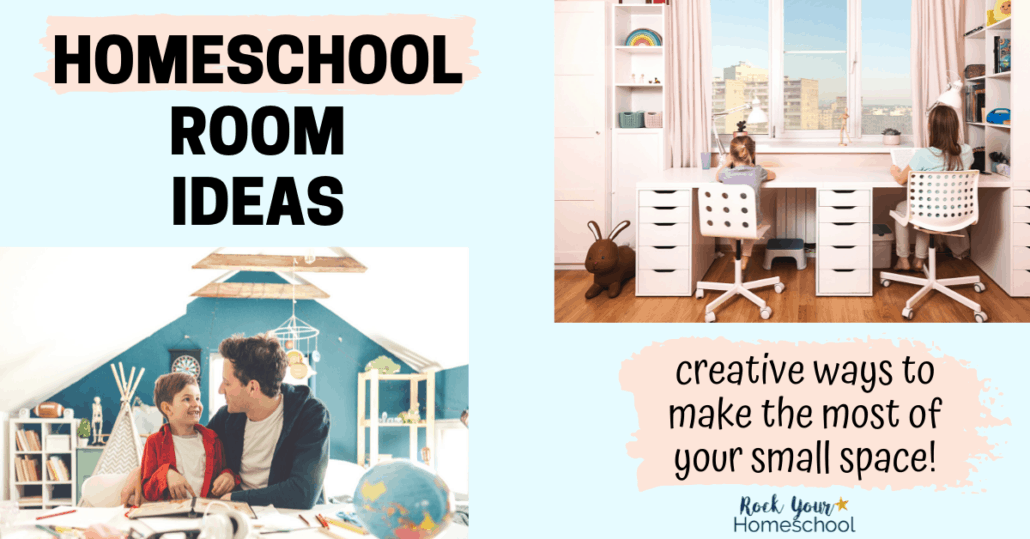 These 20 creative homeschool room ideas for small spaces will give you inspiration for storage, organization, and more.