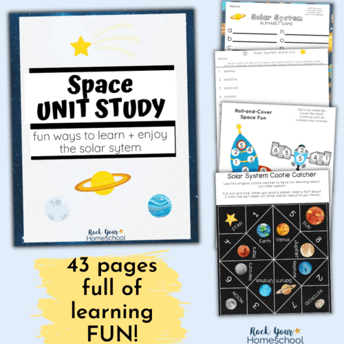 Have a learning fun blast with this Space Unit Study. Fantastic activities & resources to learn more about the solar system.