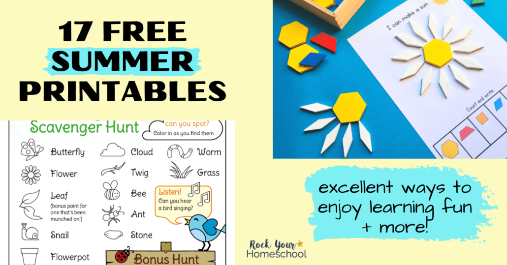 These 17 free summer printables for kids are excellent ways to make learning fun & enjoy special activities.