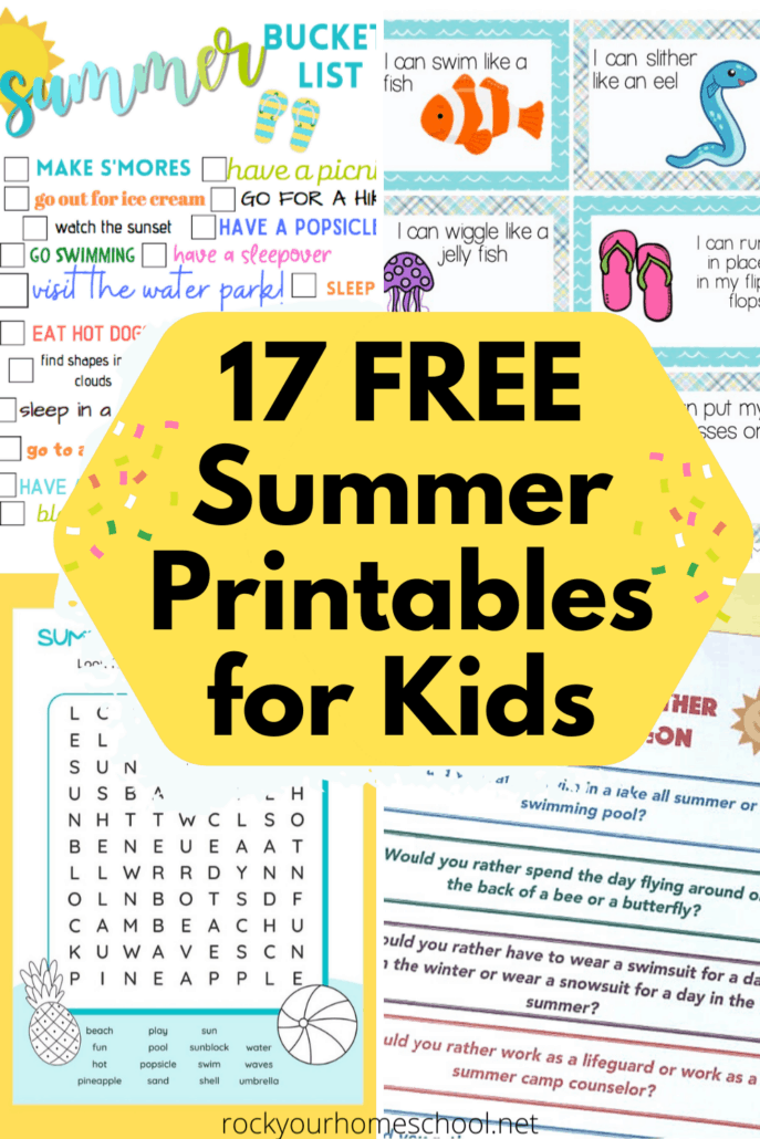 17 Free Summer Printables for Kids to Enjoy for Learning Fun and More