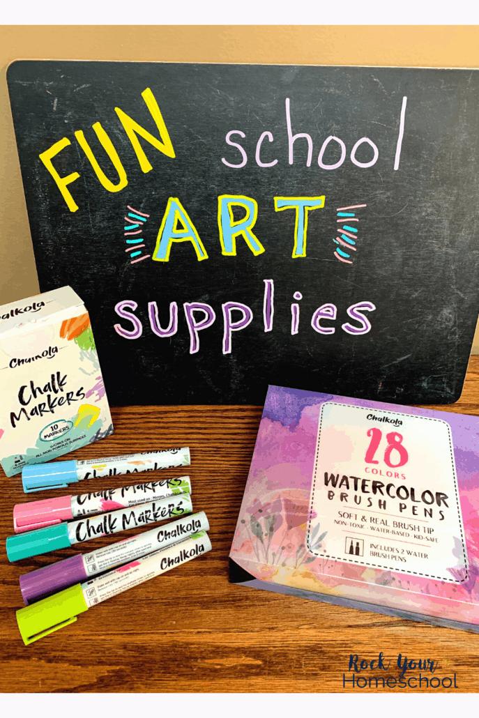 Enjoy fun homeschool activities with chalk markers for school art supplies