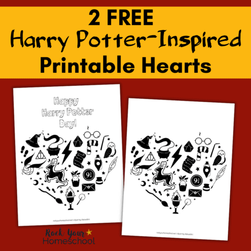 Get these 2 free Harry Potter-Inspired printable hearts to enjoy for your Harry Potter celebration or just because.
