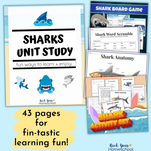 Enjoy fantastic learning fun adventures with this Sharks Unit Study and activities pack.