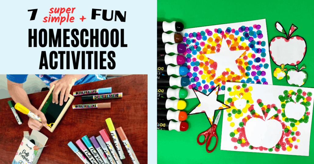Enjoy super simple and fun homeschool activities with these creative ideas for using art supplies.