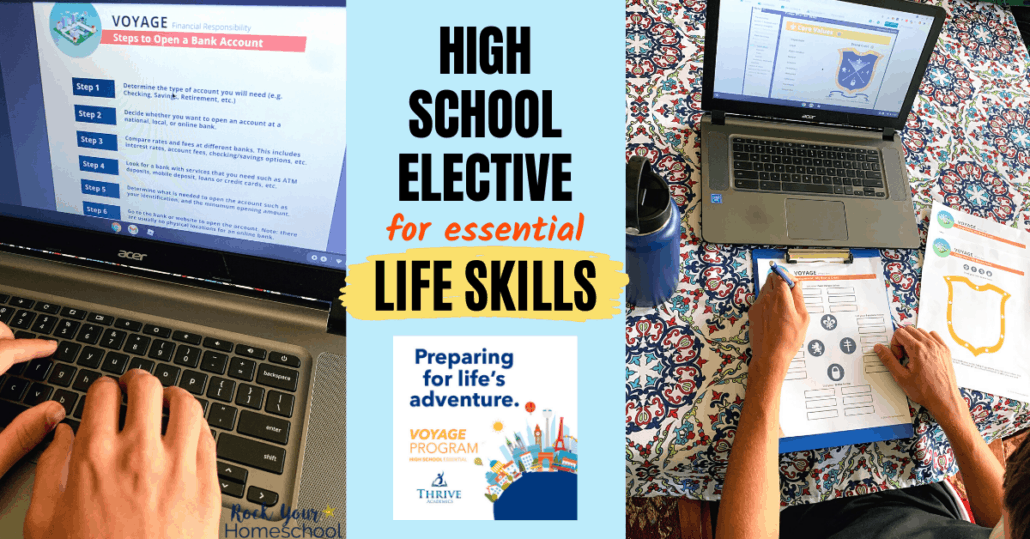 Voyage is an excellent high school elective that teachers your teen essential life skills & more.