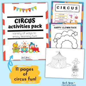 Free circus activities pack to enjoy special learning fun with your kids