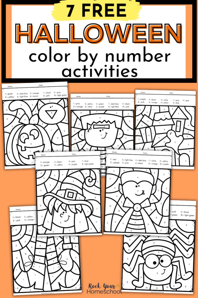 Free Halloween Color by Number Printables Pack for Special Holiday Fun