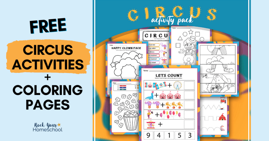 This free printable pack of circus activities is full of super cool ways to make learning fun.