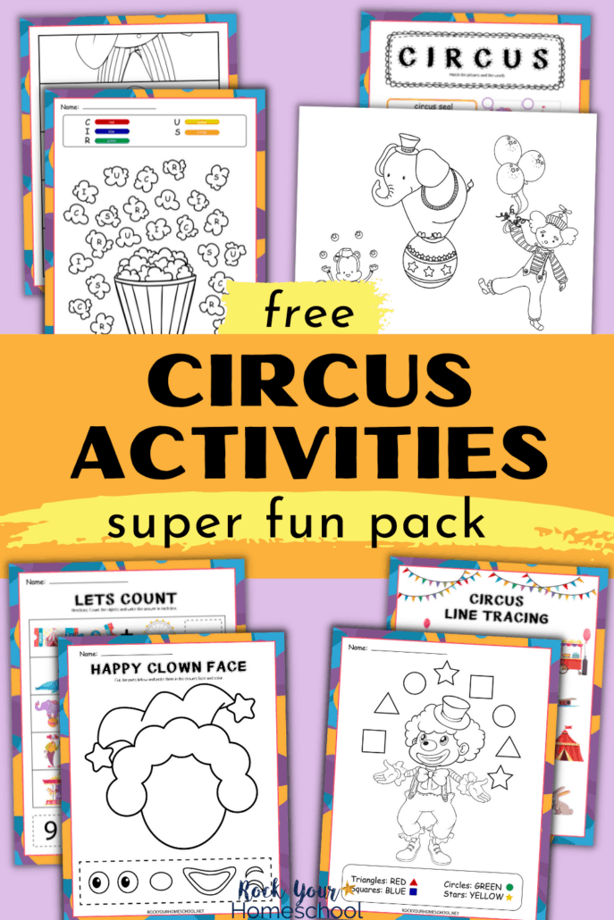 Free Circus Activities Pack of Fun Coloring Pages and More