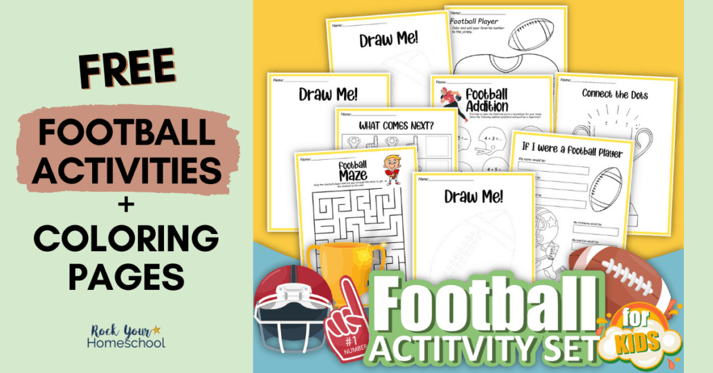 Easily make learning fun for your kids with this free football printables pack. Fantastic ways to enjoy football coloring pages and other cool activities.