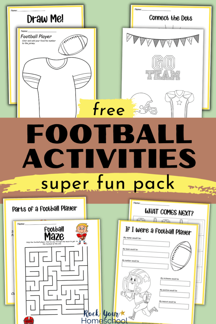 Free football printables and coloring pages to feature how you can use this free set for fantastic learning fun for your kids