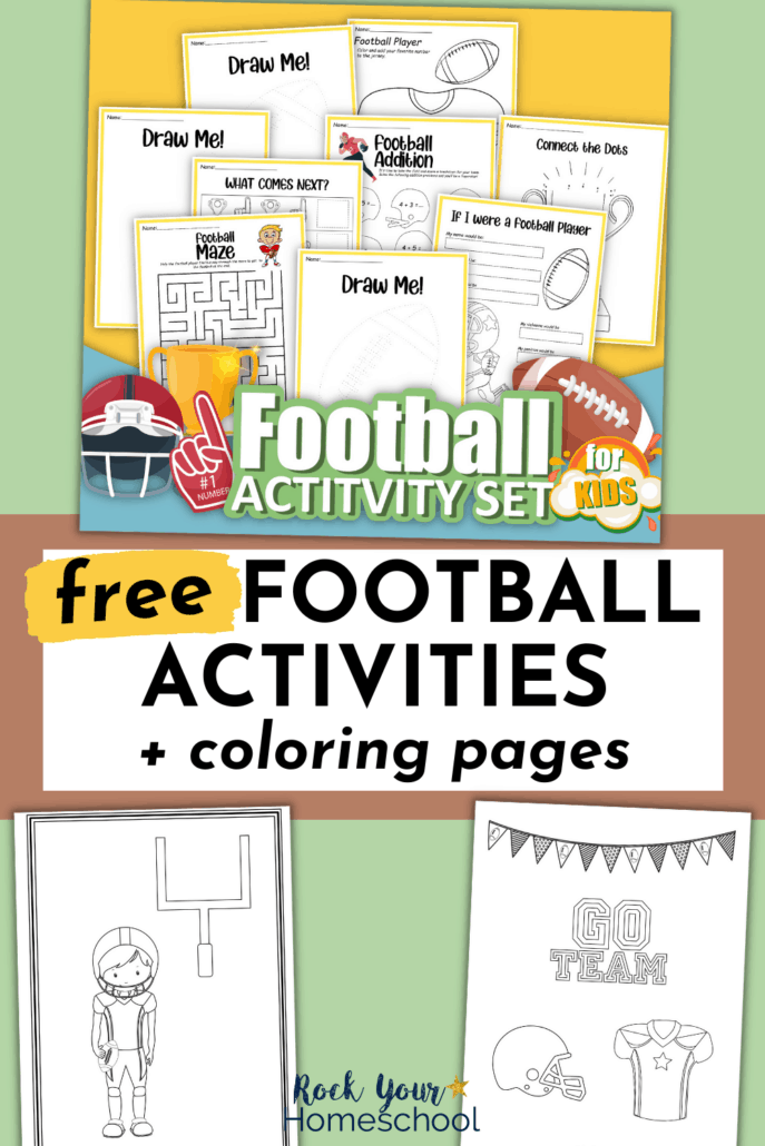 Free Football Printables Pack Full of Coloring Pages and Fun Activities