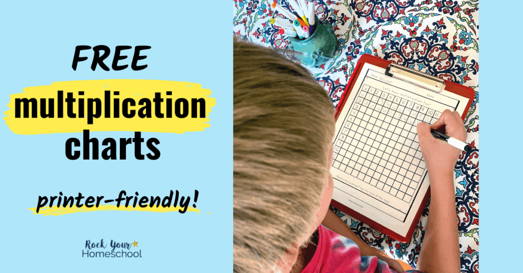 These free multiplication charts are fantastic ways to make practicing times tables fun. Get creative ideas for using these printer-friendly (black-and-white) math pages.