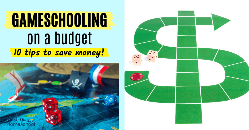 Check out these 10 tips and ideas for gameschooling on a budget so you can make learning fun with games without going broke.