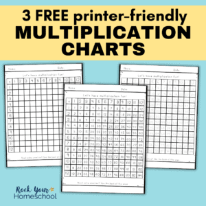 These 3 free multiplication charts are amazing ways to help your students get extra math facts practice.