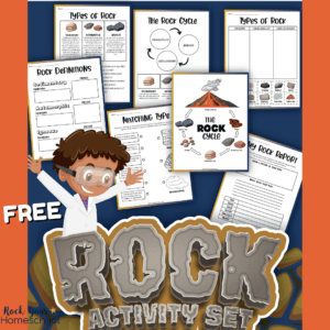 This set of 7 free rock cycle worksheets is fantastic for science fun for kids.
