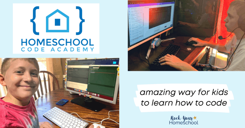 Homeschool Code Academy is a fantastic introduction to coding for kids. This self-paced course will help you get fantastic computer skills and more!