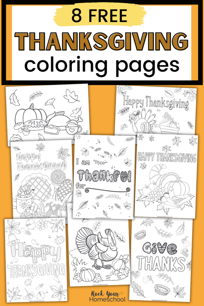 Free Thanksgiving Coloring Pages for Holiday Fun for Tweens and Teens