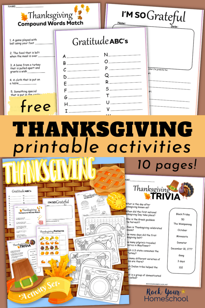 10 Free Thanksgiving Printables Pack Full of Fun Activities for Kids