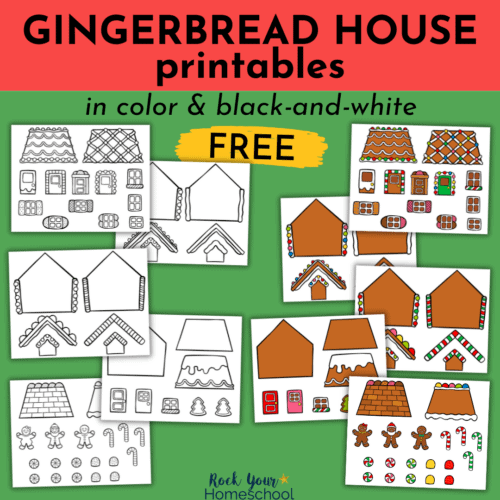 Enjoy special and frugal holiday fun with your kids! This free gingerbread house printables pack has both color and black-and-white styles so you'll have a variety of ways to get creative.