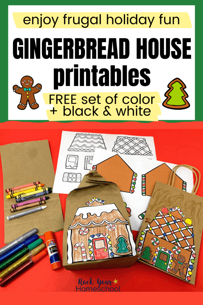 Free Gingerbread House Printables with So Many Frugal & Fun Ways to Use