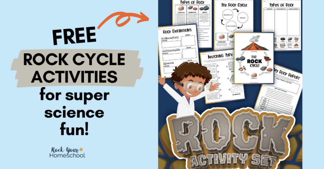 This free printable pack of rock cycle worksheets are fantastic for super science fun activities for kids.