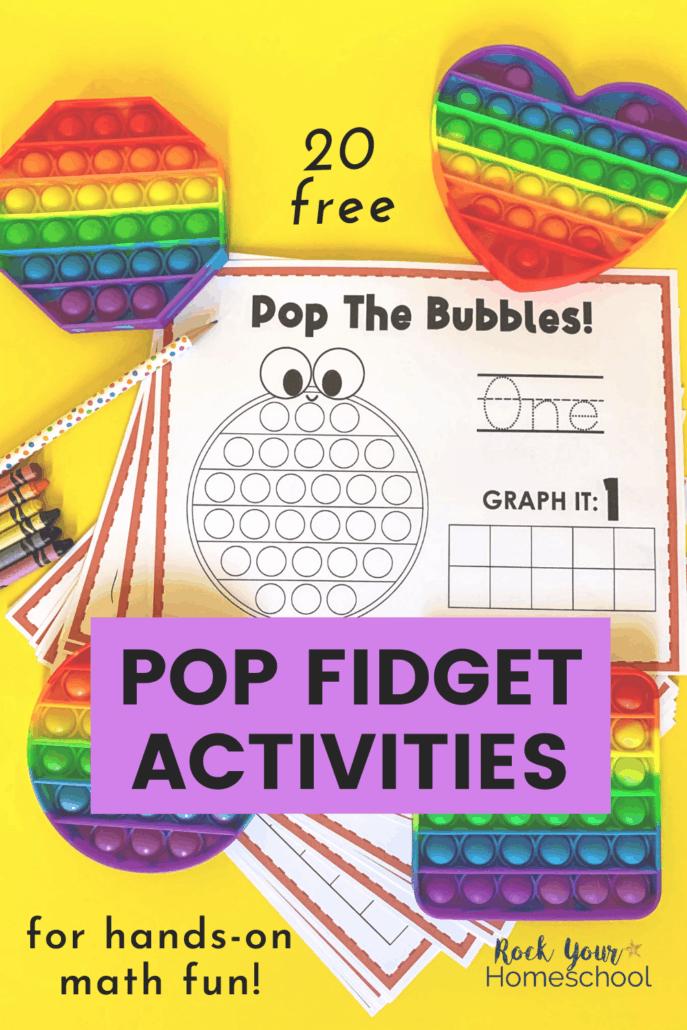 Pop Fidget Activities for Cool Math Fun (20 Free Printables)