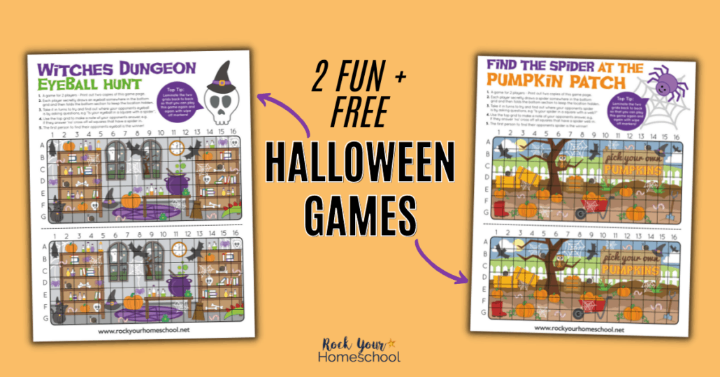 These 2 free printable Halloween games are so much fun! You'll have a blast with your kids with these special hunts that can be played again and again.