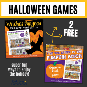 Get these 2 free printable Halloween games are incredible interactive holiday fun for kids.