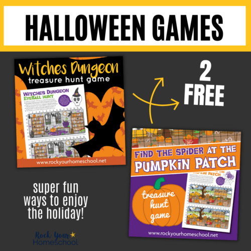 Get these 2 free printable Halloween games for incredible interactive holiday fun for kids.
