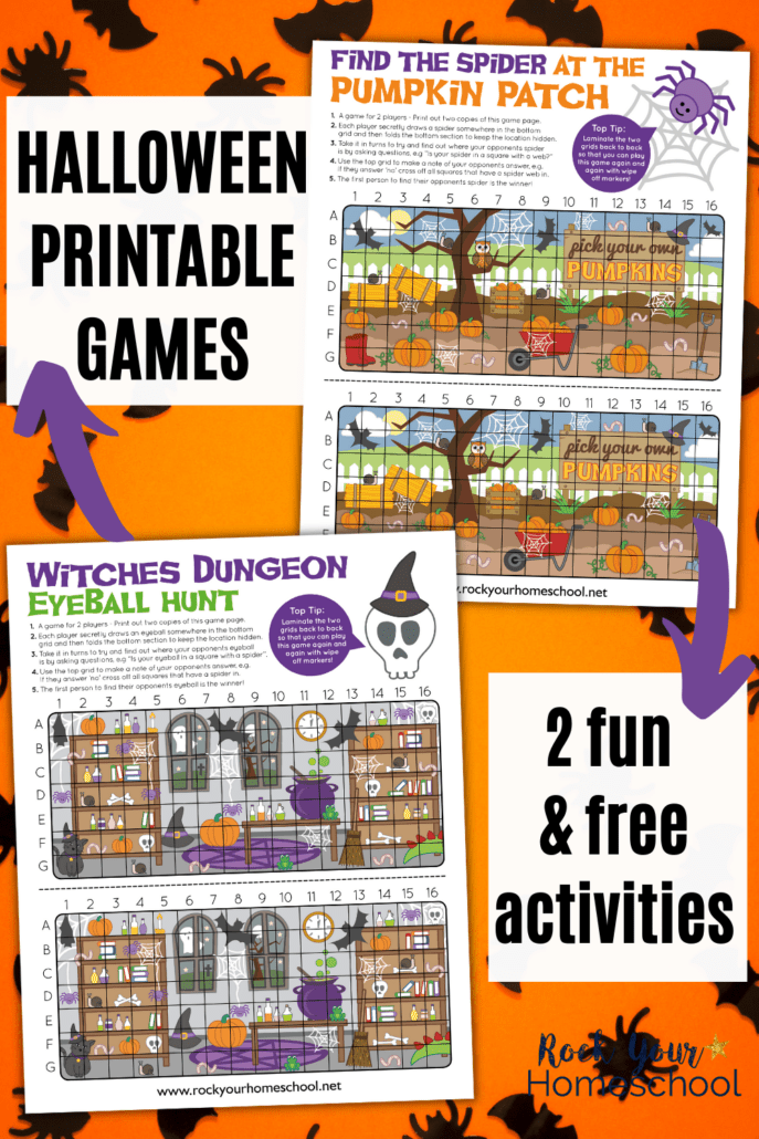 2 Free Printable Halloween Games for Interactive Holiday Fun for Kids